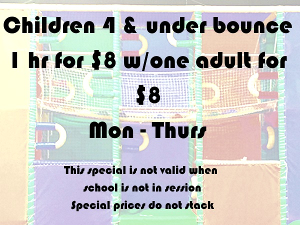 4 and under pricing