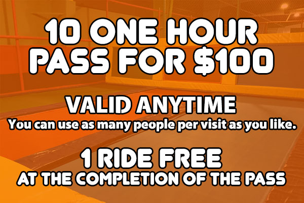 10 One Hour Pass for $100
